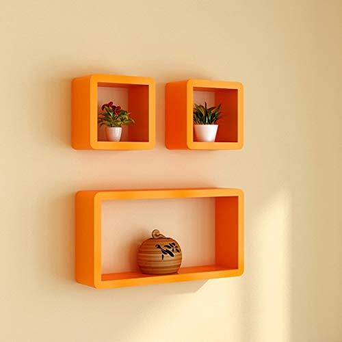 GAO XING SHOP Kreative Gitter-Fernsehwand-Dekorations-Leiste,Trennwand-Wand Auf Regal, Bücherregal (Farbe : Orange)