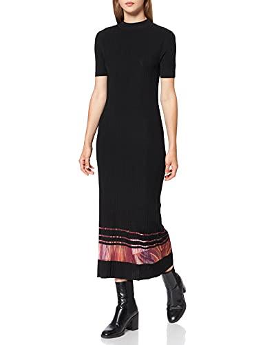 Desigual Vest_misuri Vestido Casual, Negro, L para Mujer