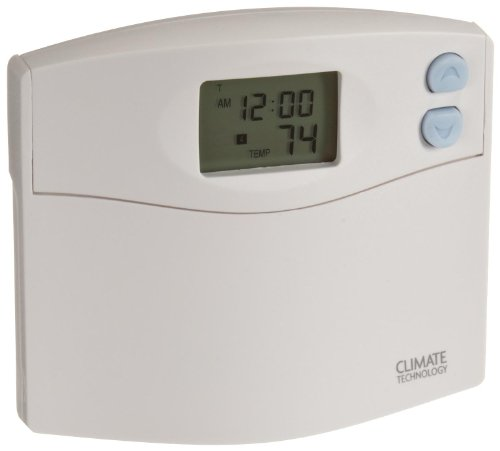 Supco 43154 Programmable Wall Thermostat with Blue Night Light, 45 to 95 Degree F, 20-30 VAC