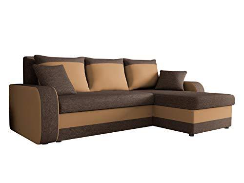 Ecksofa Kristofer Lux, Eckcouch Couch! mit Schlaffunktion, Zwei Bettkasten, Farbauswahl, Wohnlandschaft! Bettfunktion! Design L-Form Sofa! Seite Universal! (Boss 06 + Soft 003.)