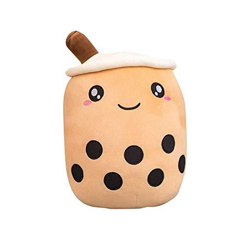 MOTOCENTRIC Bubble Tea - Peluche a forma di animale di peluche nella vita reale, pupazzo di tè con latte morbido, cuscino per tazza da tè alla frutta, giocattolo per bambini (24/35/50 cm)