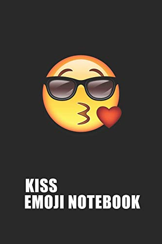 Kiss Emoji Emoticons Notebook Emoji Notebook, Blank Composition Book, Emoji Notebooks for Girls/Boys, Emoji School Supplies Notebook for School / ... 120 Pages, 6x9, Soft Cover, Matte Finish