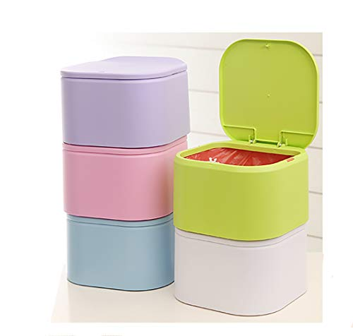 Li Gelisi Press Type Desktop Trash Can Mini Mini Trash Cans Household Living Room Bedroom Cute Table Trash Can Purple Wantitall