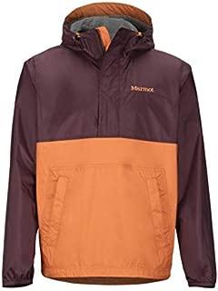 Marmot PreCip Eco Anorak - Men's, Burgundy/Mandarin Orange, Small, 41520-7136-S