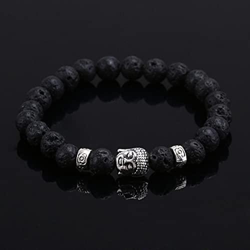 DALIU Ojo de Tigre, Piedra de Lava, Cuentas de Buda, Pulsera, joyería, Pulseras de oración de Yoga, Pulseras de Moda para Hombres y Mujeres, joyería de Moda