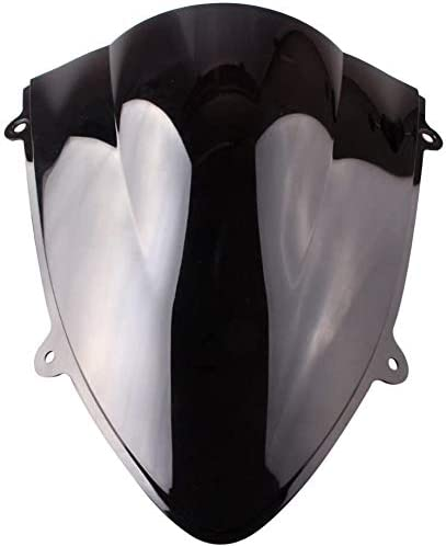 wholesale Mallofusa high quality Motorcycle ABS Black Windscreen Windshield for Kawasaki 250R 2008 2009 2010 online sale 2011 2012 Double Bubble outlet sale