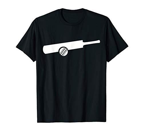 Cricket Schläger mit Ball T-Shirt