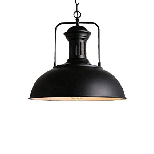 Industriële rustieke lampenkap retro lampenkap hanglamp vintage plafondlamp stopcontact in hoogte verstelbaar (zwart)