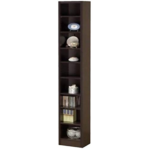 Bowery Hill 9 Shelf Narrow Bookcase in Cappuccino