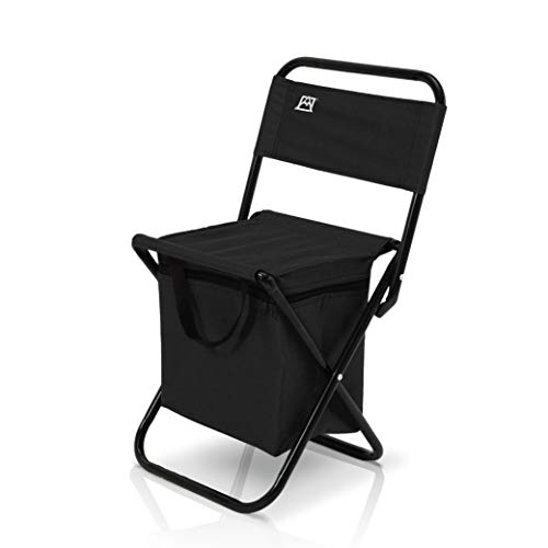 Avalanche Folding Chair with Built-in Cooler - Foldable, Small, Portable for Travel, Outdoor, Camping, Beach with 24 Can Capacity Cooling Bag (Black)