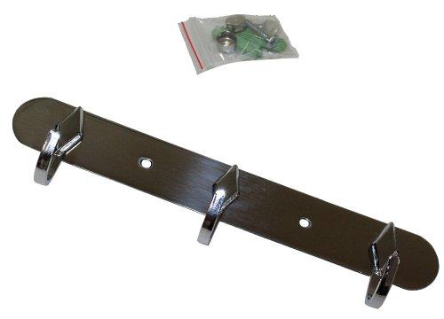 AERZETIX: Kleerhanger, hanger, coat rek, haken, 3 kleuren chroom