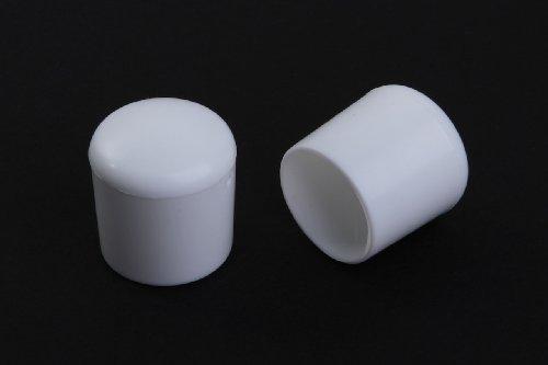 4 Stück Stuhlbeinkappe Stuhlbeinschutz Bodenschutz Stuhlschoner Kunststoff weiss Durchmesser 20mm, für alle Böden im Innen- und Aussenbereich
