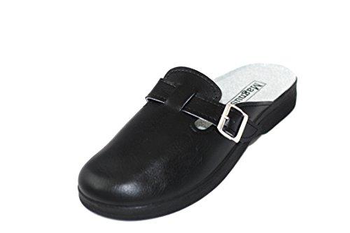 Clogs Hausschuhe Pantoffel Pantolette Sandale Schlappen Herren PP64-06 (42)