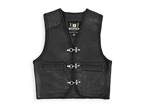 Bores Sunride 5 Leder Lederweste mit Seitlicher Weitenverstellung, Schwarz, Größe XL