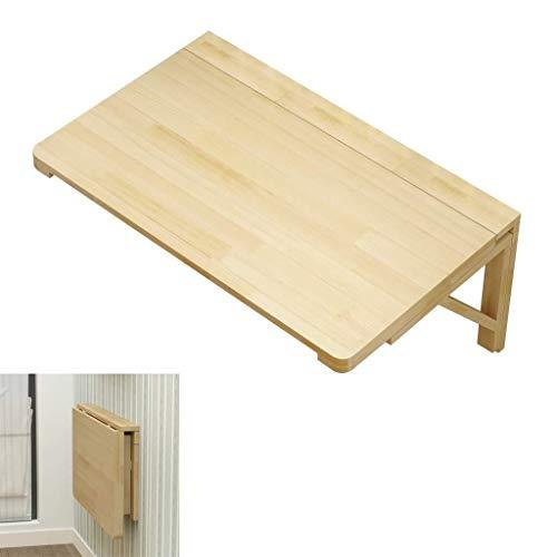 Aan de muur bevestigde vloer table Klaptafel Massief houten wand gemonteerde opvouwbare plank beugel, ruimtebesparende studie hangende tabel, geschikt for doe diverse ruimtebesparende werkbank, houtkl