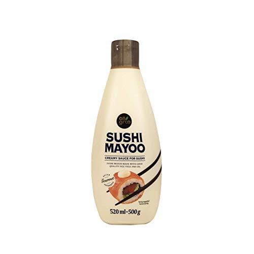 Allgroo Sushi Mayoo Sauce — Koreanische Mayonnaise für Sushi und andere Gerichte - Cremig-würzig - Vorteilspackung (3 x 520 ml)