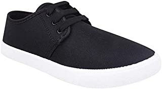 Creation Garg Men's Stylish & Trendy Black Casual Sneakers and Shoes