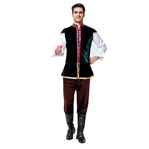 ToDIDAF Oktoberfest Lederhose Herren Vintage Hosenträger Festival Kleidung Bayerische Tracht Langarm Top Cosplay Kostüm Anzug for Oktoberfest Karneval Halloween Party Brown Free Size