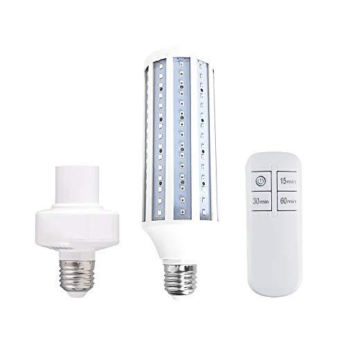 LUOLENG UV-Ozon-Sterilisationslampe Keimtötende Lampe mit Fernbedienung, Desinfektionslampe UVC-LED-Mais-Glühbirne für Küche, Toilette, Esszimmer, Schlafzimmer