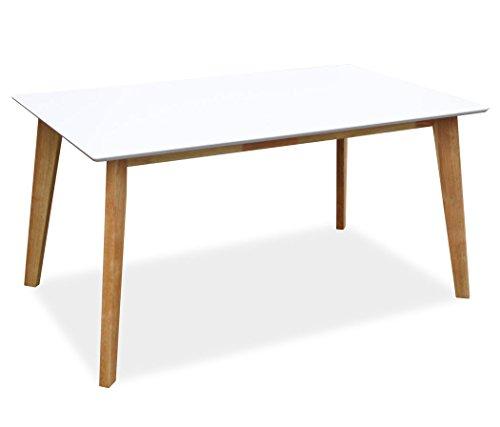 KMH®, Rechteckiger Esszimmertisch Jutta (150 x 90 cm) Weiss (#201202)