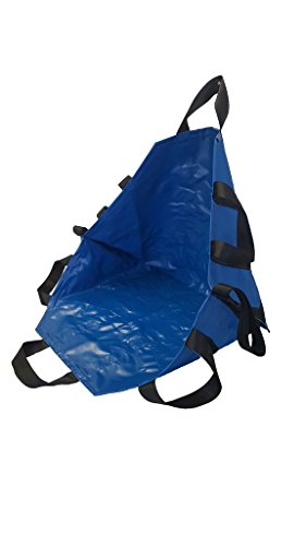 LINE2design Portable Transport Unit Seat 70096 Emergency Evacuation Medical Chair 8 Handles Transportation Seat - All Impervious Material Royal Blue