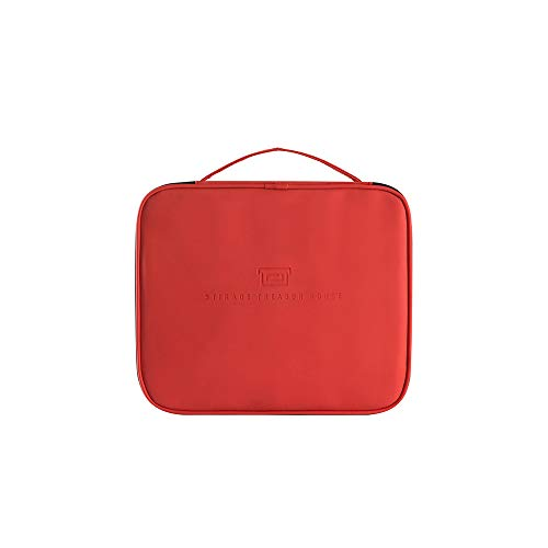 Cosmetic Bag Large Capacity Portable Portable Cosmetic Storage 24 * 21 * 7.5 Faro Red