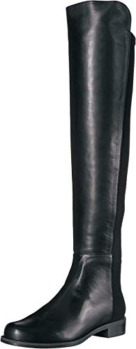 Stuart Weitzman The 5050 Boot Black Nappa/Stretch Gabardine 8
