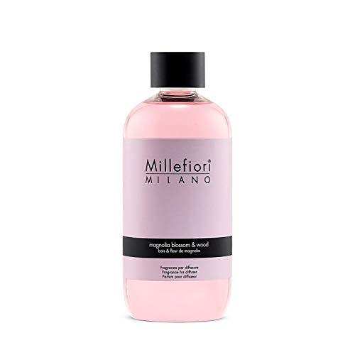Millefiori Milano Natural Ricarica per Diffusore di Aromi per Ambiente, Fragranza, Magnolia Blossom & Wood, 250 ml