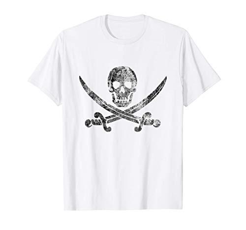 Teschio pirata vintage - Bandiera Jolly Roger Maglietta