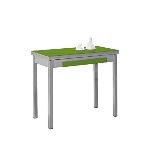 ASTIMESA Mesa de Cocina Tipo Libro Verde 50x90cm