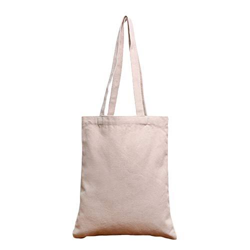 Bolsas de la compra Reutilizables, Bolsas de lona 100% algodón con cremallera, Regalo Tote Bag, Bolsa de Playa, Bolsa de Hombro, Bolsa de Libros