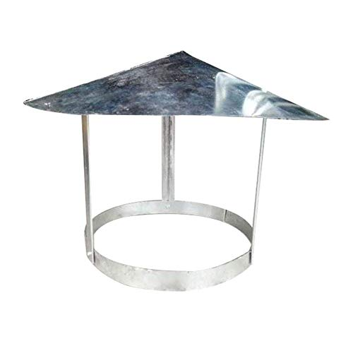 JSONA Tapa Protectora para Chimenea, Lluvia y Nieve Tapa Protectora Tapa para ventilación Tapa para Chimenea Multiusos Hierro Blanco, 240 mm