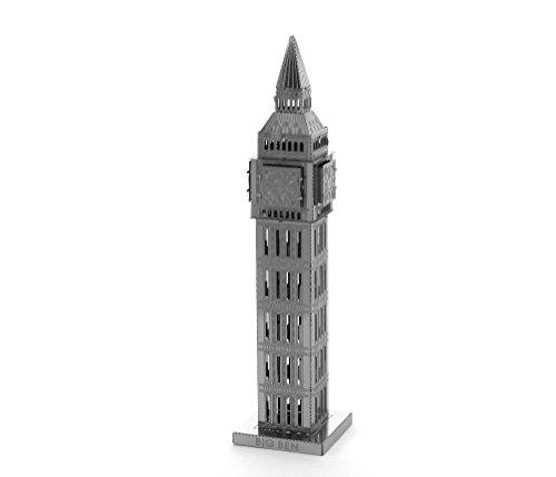 Fascinations MMS019 - Metal Earth 502556 - Big Ben Tower, lasergeschnittener 3D-Konstruktionsbausatz, 1 Metallplatine, ab 14 Jahren