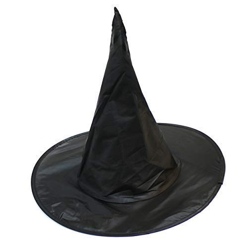 By Robelli Nylon Foldable Black Halloween Witch / Wizard Hat - One Size