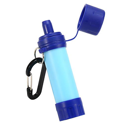Lixada Filtre à Eau extérieur système de Filtration d'eau de Paille purificateur d'eau pour la préparation aux urgences Camping Voyage Sac à Dos