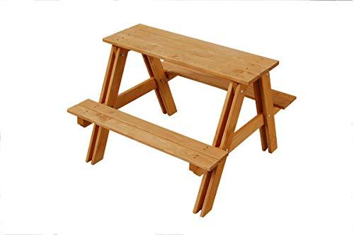 GASPO Table de Pique-Nique pour Enfants en pin imprégné - 80 x 80 x 48 cm (L x l x h)