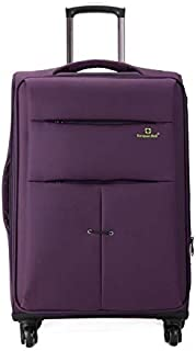Luggage & Bags 24 inch Oxford Cloth Universal Wheel Travel Password Draw-bar Box Luggage Carrier(Black) (Color : Purple)