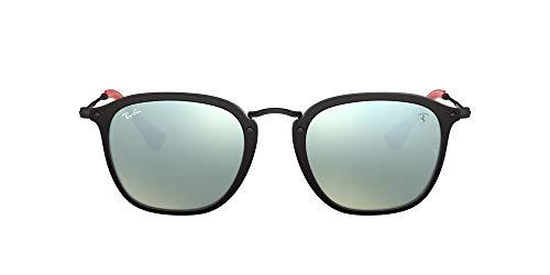Ray-Ban Herren 0RB2448NM F60230 51 Sonnenbrille, Schwarz (Matte Black)