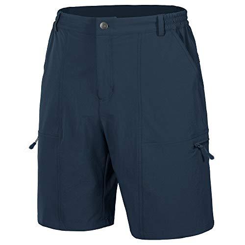 Libin Men's Outdoor Hiking Shorts Lightweight Quick Dry Stretch Cargo Shorts Travel Fishing Golf Tactical Shorts, Navy XL