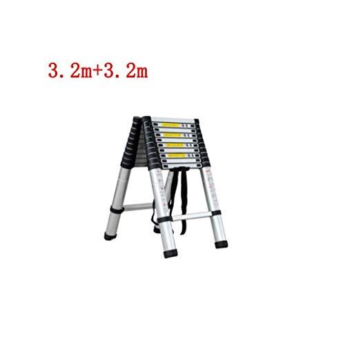DY 5M Telescopische Ladder Aluminium Draagbare Multi-Purpose Folding Extension Ladders Voor Outdoor & Indoor Builder DIY Projector Gemakkelijk dragen 150kg/330lbs Max. Laden