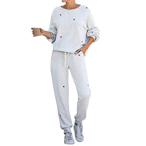 ZEZKT 2 Pezzi Tuta da Ginnastica Donna Casuale Felpa /& Pantaloni Tuta Sportivo Elegante Caldo Ragazze Yoga Gym Tops Leggings Jogging Fitness Abbigliamento Taglie Forti