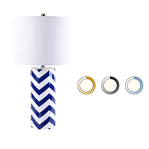 nakw88 Lámpara de Mesa Lámpara Moda Arte Lámpara de Mesa de cerámica Home Hotel Habitatoria Mesa de Noche Lámpara Ajustable Three-Color Luz 36 * 70 cm