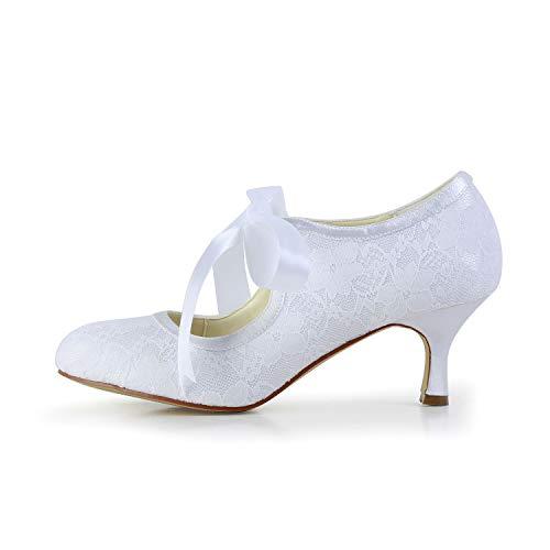 Jia Jia Wedding 14031 Hochzeitsschuhe Brautschuhe Damen Pumps weiß, EU 35 - 3