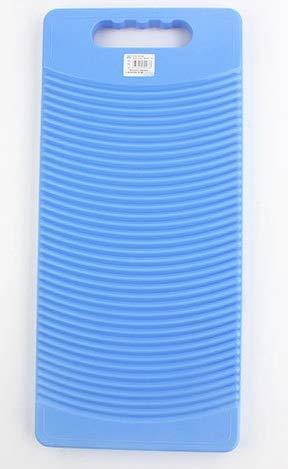 MZD Plast rektangel tvättbräda tvätt kläder bräda 50 cm lång (blå)