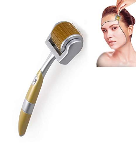 Titanium Microneedle 192 Derma Needle Roller Traite les cicatrices d'acné, la peau, la perte de cheveux, les rides, les points noirs, les ridules, le soleil endommagé, la régénération éclaircissante e