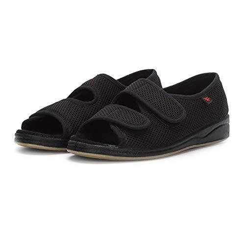 Orthopedische schoenen voor dames Heren Open teen Verstelbare klittenband Extra brede schoenen Gezwollen voeten…