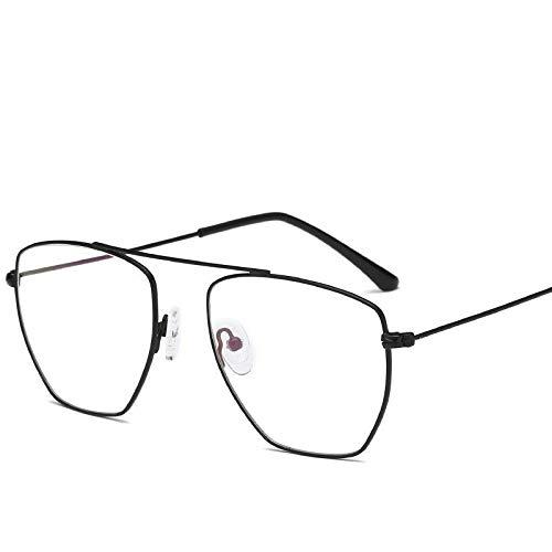 Gafas de Sol Gafas De Montura Retro De Espejo Plano Poligonal De Haz Simple protección para los Ojos (Color : D)