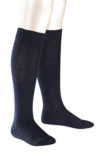 FALKE Kinder Kniestrümpfe Comfort Wool - Merinowoll-/Baumwollmischung, 1 Paar, Blau (Dark Marine 6170), Größe: 27-30