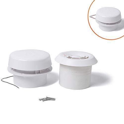 Ventilador de ventilación del extractor RV de 12V para autocaravanas, embarcaciones marinas, remolques, accesorios para yates - 60CFM ABS silencioso Ventilación para autocaravanas Caravana Techo