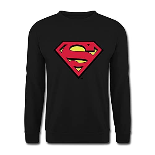 DC Comics Superman Logo Original Unisex Pullover, XL, Schwarz